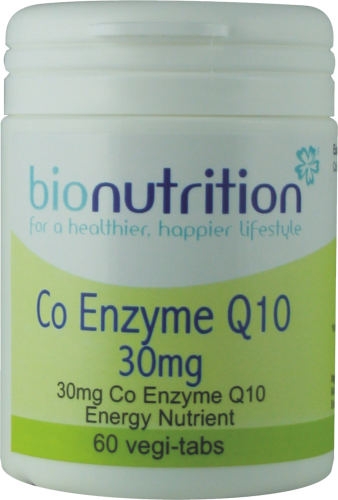 Bio Nutrition : Antioxidant & Immune Boost : Co Enzyme Q10 30mg (tablets)